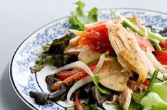 Fried chicken salad. In Thai style Stock Photo