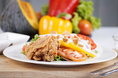 Fried Chicken salad Stock Images
