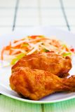 Fried Chicken with Sauce Royalty Free Stock Images