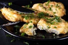 Fried chicken schnitzel Stock Image