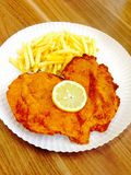 fried chicken schnitzel Stock Photo