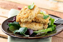 Fried chicken in sesame seeds Royalty Free Stock Images