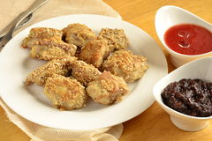Fried chicken in sesame Royalty Free Stock Images