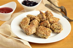 Fried chicken in sesame Royalty Free Stock Photo