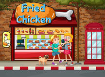 Fried chicken shop vector illustration