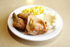 Fried chicken with sides Stock Image