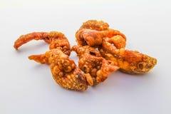 Fried chicken skin Stock Image