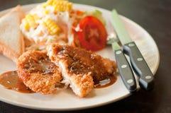 Fried chicken steak Stock Photo