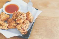 Fried chicken on the table. Royalty Free Stock Image