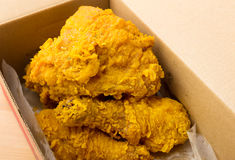 Fried chicken take away Royalty Free Stock Image