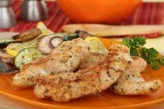 Fried Chicken Tenderloins Stock Photography