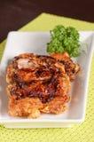 Fried chicken with teriyaki sauce Royalty Free Stock Photo