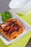 Fried chicken with teriyaki sauce Stock Photography