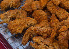 Fried chicken. On a tray Royalty Free Stock Photography