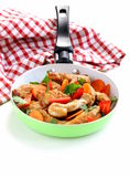 Fried chicken (turkey) fillets with vegetables Royalty Free Stock Photo
