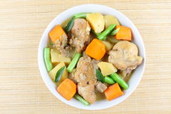 Fried chicken with vegetables Stock Images