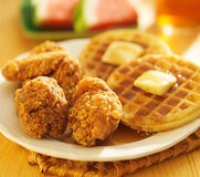 Fried chicken and waffles Stock Image