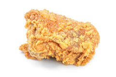 Fried chicken on white backgrond Stock Photos