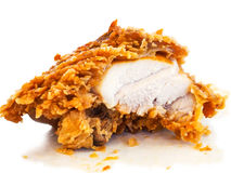 Fried chicken. On white background Stock Image