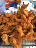 Fried chicken. Fried wing chicken Stock Image