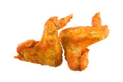 Fried chicken wing duo Stock Images