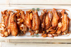 Fried chicken wing. Royalty Free Stock Photos