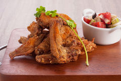 Fried chicken wing Stock Photo