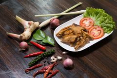 Fried Chicken Wing with Salt royalty free stock photos