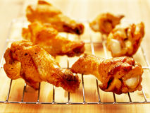 Fried chicken wings. Close up of fried chicken wings Royalty Free Stock Photography