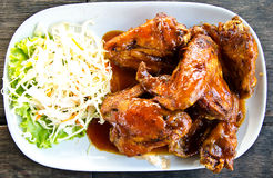 Fried chicken wings. Royalty Free Stock Image