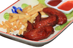 Fried chicken wings Royalty Free Stock Image