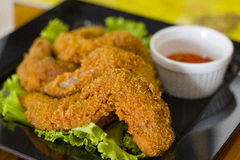 Fried Chicken Wings on  background Stock Photo