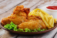 Fried chicken wings Royalty Free Stock Photos