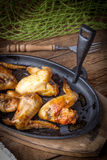Fried chicken wings. Stock Images