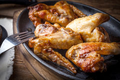 Fried chicken wings. Stock Photography
