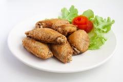 Fried Chicken Wings con la sal Imagen de archivo libre de regalías