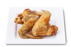 Fried Chicken Wings con la sal, foco selecto Fotografía de archivo
