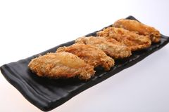 Fried Chicken Wings curruscante Fotografía de archivo