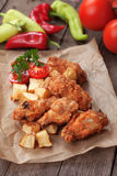 Fried Chicken Wings do sul Foto de Stock Royalty Free