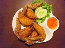 Fried chicken wings. EASY food for background Royalty Free Stock Photography