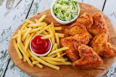 Fried chicken wings Royalty Free Stock Photo