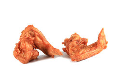 Fried chicken wings isolated on white Royalty Free Stock Image