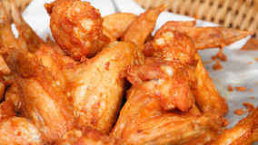 Fried chicken wings Royalty Free Stock Photography