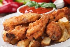 Fried Chicken Wings meridional Fotografía de archivo libre de regalías