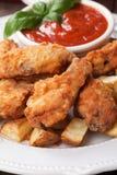 Fried Chicken Wings meridional Imágenes de archivo libres de regalías