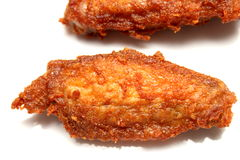 Fried Chicken Wings no fundo branco Fotografia de Stock