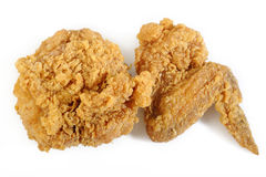 Fried Chicken Wings no fundo branco Imagens de Stock