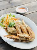 Fried chicken wings on a plate Stock Photo