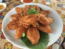 Fried chicken wings. In the resturant Royalty Free Stock Images