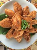 Fried chicken wings. In the resturant Royalty Free Stock Photos